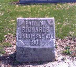RICHARDS, PAUL W. - Shelby County, Ohio | PAUL W. RICHARDS - Ohio Gravestone Photos