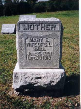 SHILL, MARY E - Shelby County, Ohio   MARY E SHILL - Ohio Gravestone Photos