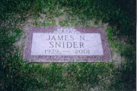 SNIDER, JAMES N - Shelby County, Ohio | JAMES N SNIDER - Ohio Gravestone Photos