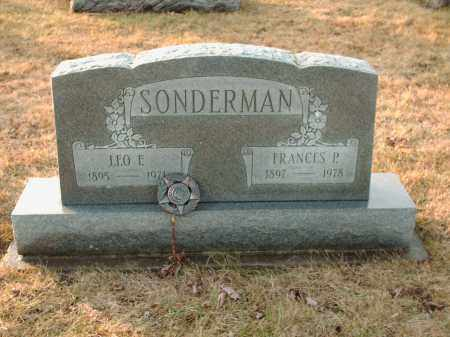 SONDERMAN, FRANCES P - Shelby County, Ohio | FRANCES P SONDERMAN - Ohio Gravestone Photos
