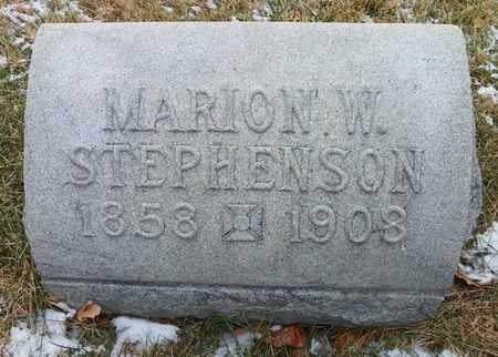 STEPHENSON, MARION W. - Shelby County, Ohio   MARION W. STEPHENSON - Ohio Gravestone Photos