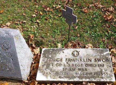 SWOB, GEORGE FRANKLIN - Shelby County, Ohio | GEORGE FRANKLIN SWOB - Ohio Gravestone Photos