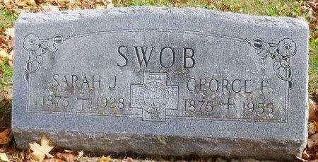 SWOB, SARAH JANE - Shelby County, Ohio | SARAH JANE SWOB - Ohio Gravestone Photos