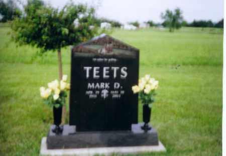 TEETS, MARK D - Shelby County, Ohio   MARK D TEETS - Ohio Gravestone Photos