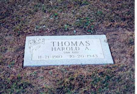 THOMAS, HAROLD A - Shelby County, Ohio | HAROLD A THOMAS - Ohio Gravestone Photos