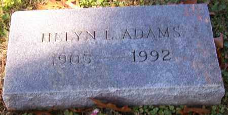 ADAMS, HELYN L. - Stark County, Ohio   HELYN L. ADAMS - Ohio Gravestone Photos