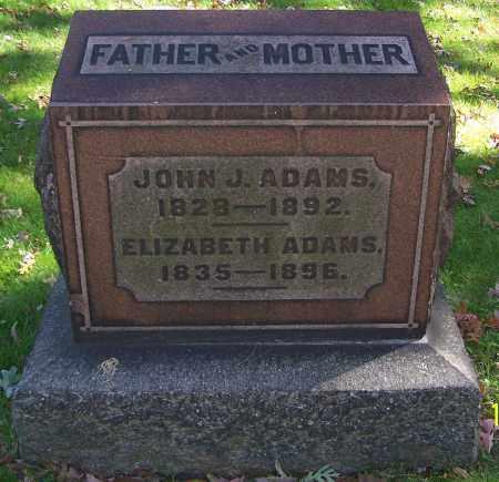 ADAMS, ELIZABETH - Stark County, Ohio   ELIZABETH ADAMS - Ohio Gravestone Photos