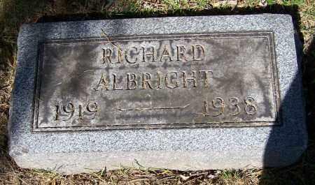 ALBRIGHT, RICHARD - Stark County, Ohio   RICHARD ALBRIGHT - Ohio Gravestone Photos