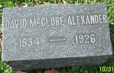 ALEXANDER, DAVID MCCLURE - Stark County, Ohio | DAVID MCCLURE ALEXANDER - Ohio Gravestone Photos