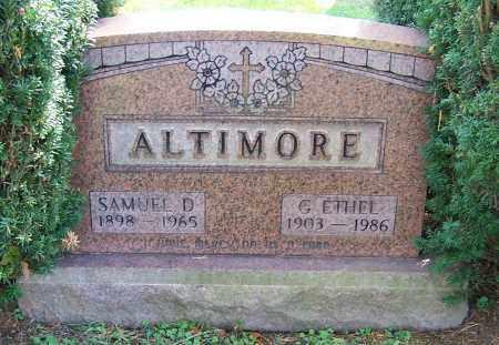 ALTIMORE, G. ETHEL - Stark County, Ohio | G. ETHEL ALTIMORE - Ohio Gravestone Photos