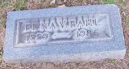 BAHL, EDNA V. - Stark County, Ohio   EDNA V. BAHL - Ohio Gravestone Photos