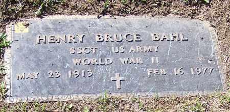 BAHL, HENRY BRUCE - Stark County, Ohio   HENRY BRUCE BAHL - Ohio Gravestone Photos