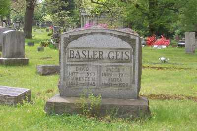 BASLER, FLORENCE M. - Stark County, Ohio | FLORENCE M. BASLER - Ohio Gravestone Photos