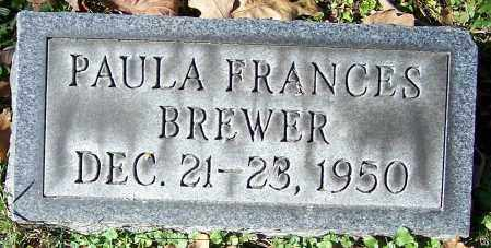 BREWER, PAULA FRANCES - Stark County, Ohio   PAULA FRANCES BREWER - Ohio Gravestone Photos