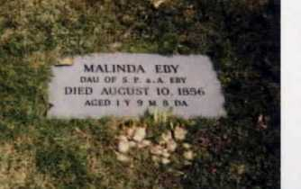 EBY, MALINDA - Stark County, Ohio | MALINDA EBY - Ohio Gravestone Photos