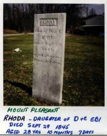 EBY, RHODA - Stark County, Ohio | RHODA EBY - Ohio Gravestone Photos