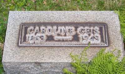 BERGER GEIS, CAROLINE - Stark County, Ohio | CAROLINE BERGER GEIS - Ohio Gravestone Photos