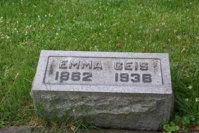 GEIS, EMMA - Stark County, Ohio | EMMA GEIS - Ohio Gravestone Photos