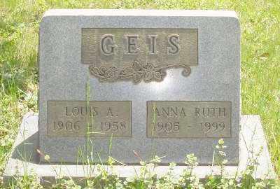GEIS, ANNA RUTH - Stark County, Ohio | ANNA RUTH GEIS - Ohio Gravestone Photos