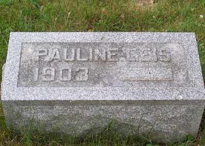 GEIS, PAULINE - Stark County, Ohio   PAULINE GEIS - Ohio Gravestone Photos
