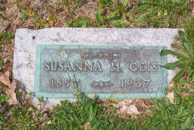 GEIS, SUSANNA M. - Stark County, Ohio   SUSANNA M. GEIS - Ohio Gravestone Photos