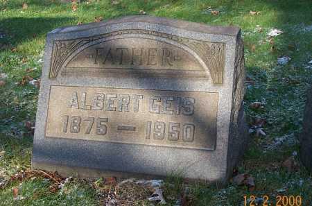GEIS, ALBERT CHARLES - Stark County, Ohio   ALBERT CHARLES GEIS - Ohio Gravestone Photos