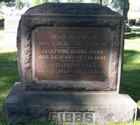 GIBBS, JOHN W. - Stark County, Ohio   JOHN W. GIBBS - Ohio Gravestone Photos