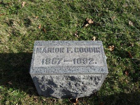 GOODIN, MARION F. - Stark County, Ohio   MARION F. GOODIN - Ohio Gravestone Photos