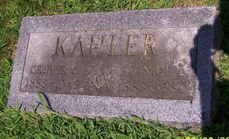KAHLER, GROVER C. - Stark County, Ohio   GROVER C. KAHLER - Ohio Gravestone Photos