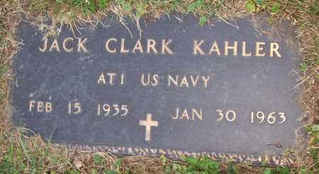 KAHLER, JACK CLARK - Stark County, Ohio   JACK CLARK KAHLER - Ohio Gravestone Photos