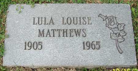 MATTHEWS, LULU LOUISE - Stark County, Ohio | LULU LOUISE MATTHEWS - Ohio Gravestone Photos