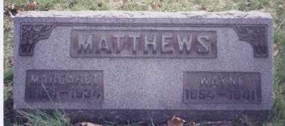 MATTHEWS, MARGARET - Stark County, Ohio | MARGARET MATTHEWS - Ohio Gravestone Photos