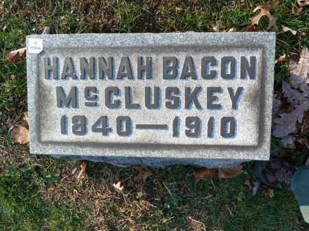 BACON MCCLUSKEY, HANNAH - Stark County, Ohio | HANNAH BACON MCCLUSKEY - Ohio Gravestone Photos