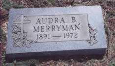 MERRYMAN, AUDRA B. - Stark County, Ohio   AUDRA B. MERRYMAN - Ohio Gravestone Photos
