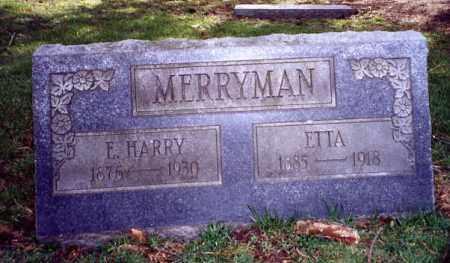 MERRYMAN, ETTA - Stark County, Ohio | ETTA MERRYMAN - Ohio Gravestone Photos