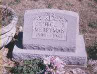 MERRYMAN, GEORGE S. - Stark County, Ohio   GEORGE S. MERRYMAN - Ohio Gravestone Photos