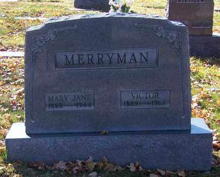 MERRYMAN, VICTOR - Stark County, Ohio   VICTOR MERRYMAN - Ohio Gravestone Photos