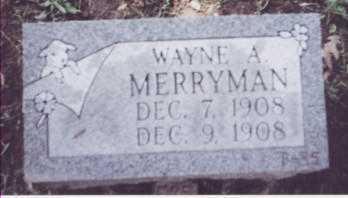 MERRYMAN, WAYNE A. - Stark County, Ohio   WAYNE A. MERRYMAN - Ohio Gravestone Photos