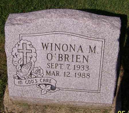 O'BRIEN, WINONA M. - Stark County, Ohio | WINONA M. O'BRIEN - Ohio Gravestone Photos