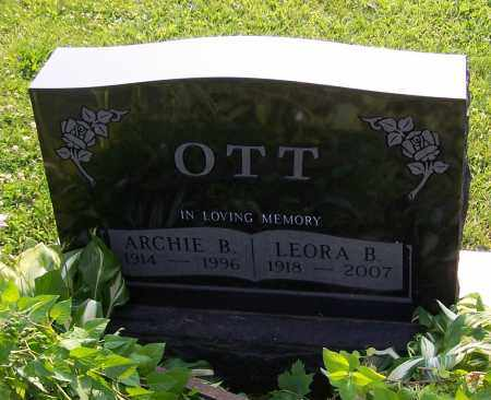 OTT, LEORA B. - Stark County, Ohio | LEORA B. OTT - Ohio Gravestone Photos