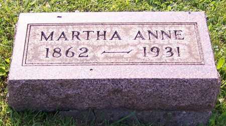 REAM, MARTHA ANNE - Stark County, Ohio | MARTHA ANNE REAM - Ohio Gravestone Photos