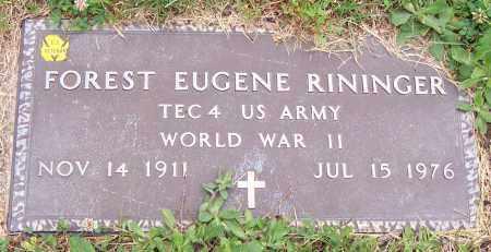 RININGER, FOREST EUGENE - Stark County, Ohio | FOREST EUGENE RININGER - Ohio Gravestone Photos