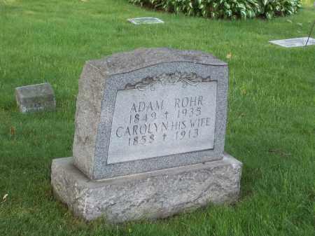 ROHR, ADAM - Stark County, Ohio | ADAM ROHR - Ohio Gravestone Photos