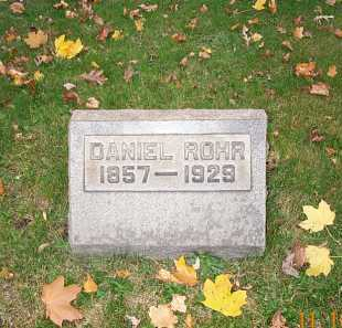 ROHR, DANIEL - Stark County, Ohio | DANIEL ROHR - Ohio Gravestone Photos