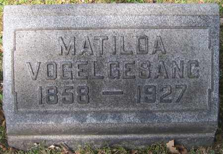 VOGELGESANG, MATILDA - Stark County, Ohio   MATILDA VOGELGESANG - Ohio Gravestone Photos