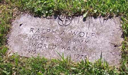WOLF, RALPH A.  (MIL) - Stark County, Ohio   RALPH A.  (MIL) WOLF - Ohio Gravestone Photos