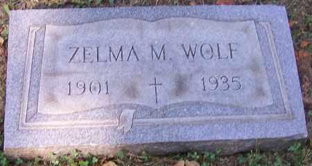 WOLF, ZELMA M. - Stark County, Ohio | ZELMA M. WOLF - Ohio Gravestone Photos