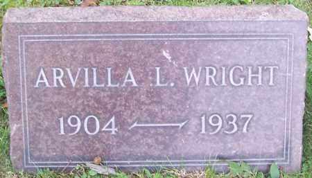 WRIGHT, ARVILLA L. - Stark County, Ohio | ARVILLA L. WRIGHT - Ohio Gravestone Photos