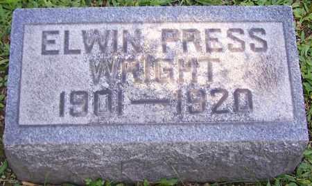 WRIGHT, ELWIN PRESS - Stark County, Ohio | ELWIN PRESS WRIGHT - Ohio Gravestone Photos