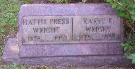 WRIGHT, HATTIE PRESS - Stark County, Ohio | HATTIE PRESS WRIGHT - Ohio Gravestone Photos
